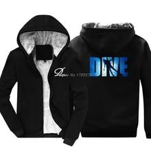 New Fashion Men Keep Warm Thicken Hoodie Dive Scuba Dive Hoodie Fan Gift Idea Sweatshirt Funny Casual Jacket Streetwear