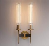 Modern Wall Sconce Bedroom Bedside Lamp Corridor Aisle Balcony Glass Wall Lamp bathroom Mirror Bronze Glass Wall Light LED Lamp