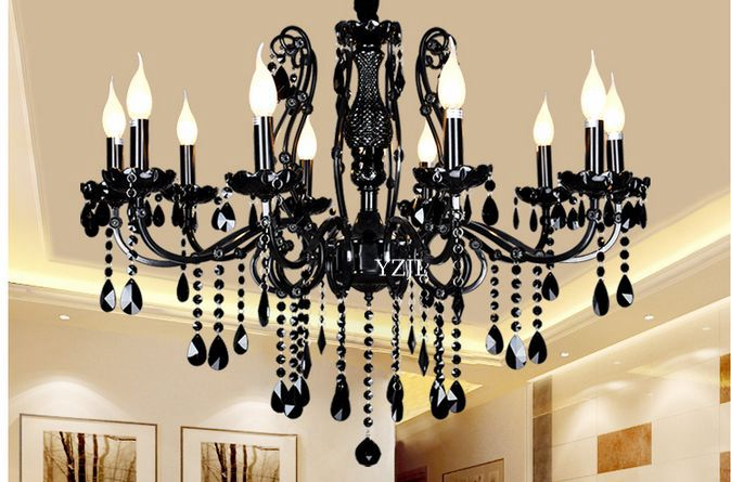 Black Chandelier Crystal Chandelier Light Crystal Living