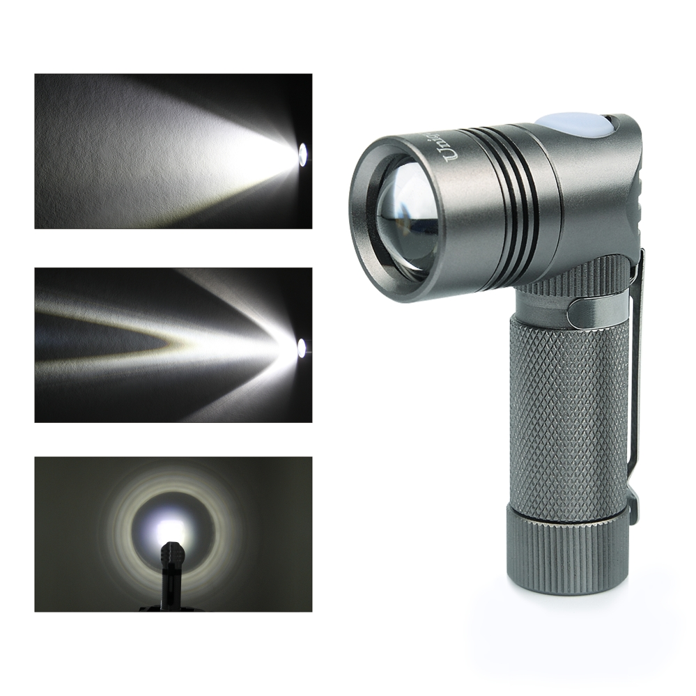 UniqueFire V4-B XPG 3 Mode Zoomable Mini Senter Senter LED Torch - Pencahayaan portabel