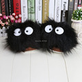 "1Pair 11"" My Neighbor Totoro Ghibli Dust Bunny Adult Plush toys Doll Slipper Totoro slippers BLACK  totoro dust bunny slippers"