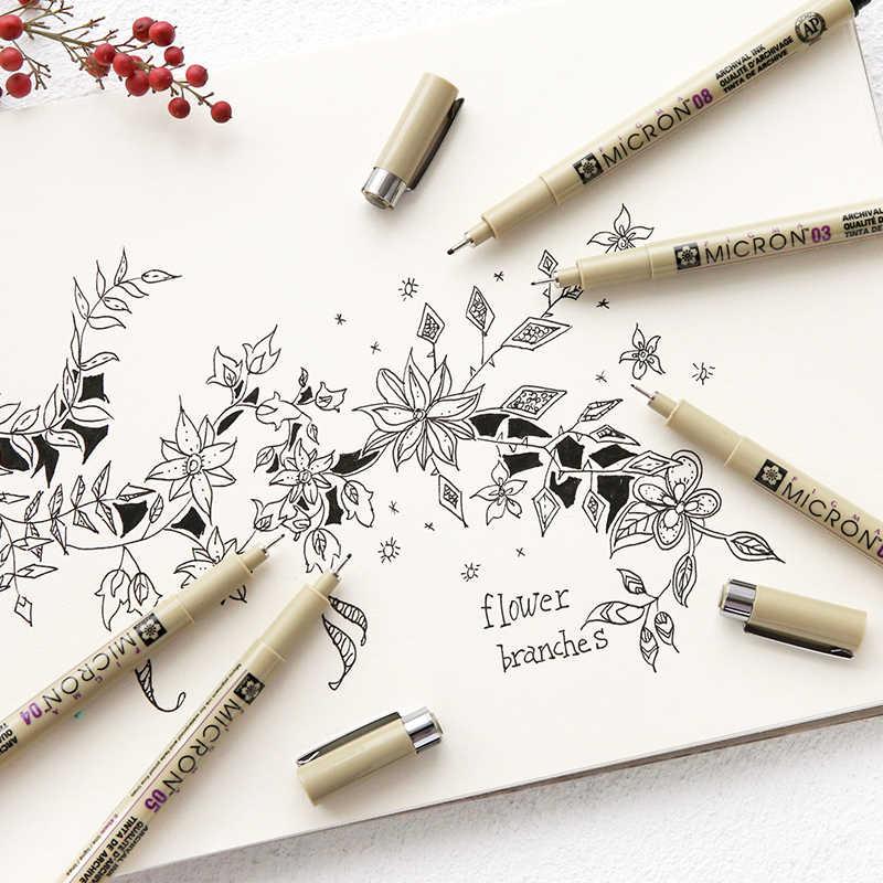 Sakura professionnel Pigma Art marqueur stylo pour dessin croquis archives encre noire brosse papeterie Animation Art fournitures