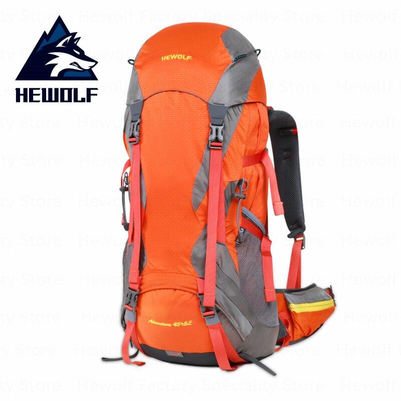 Hewolf 50L sac à dos de randonnée sac de sport de plein air sac d'escalade professionnel respirant imperméable sacs de sport randonnée Camping voyage