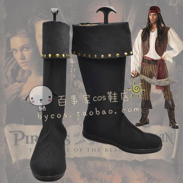 Piratas del Caribe Cosplay Botas Animado Zapatos Hechos A Medida