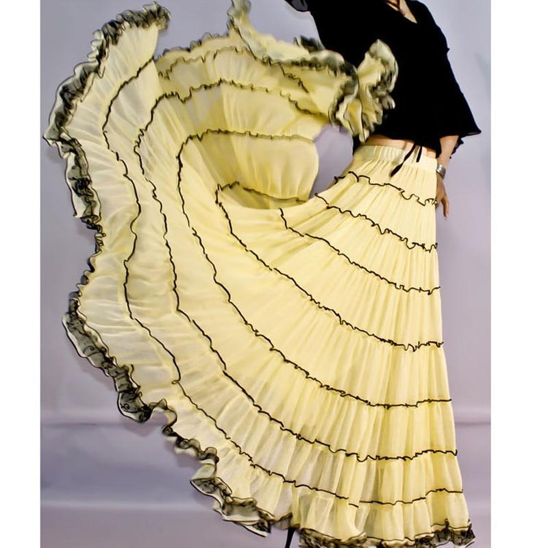Mujer Plisado Grande Tamaño Amarillo Plissee Para Verano blanco Boho Más Tull Rojo Oro rojo 6xl Maxi Gasa Faldas 5xl Bohemia Largas Blanco 7pp6wxq
