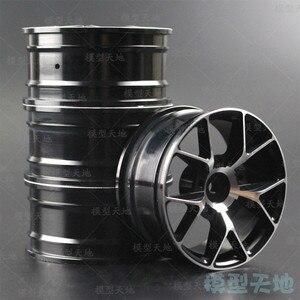 Image 1 - 4pcs 1/10 On Road Drift Car 52MM Aluminum Alloy Metal Wheel Hub 1.9Inch Climb Car Wheel Rim For HSP Tamiya HPI Kyosho Sakura 103