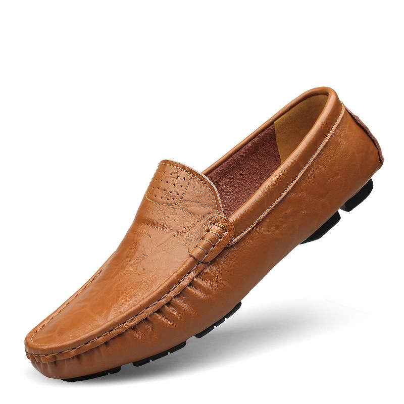 Pisos Nueva Arival Auténticos Zapatos de Marca Casual Hombres zapatos de Cuero