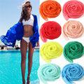 2016 New Arrival Women Sexy Chiffon Wrap Dress Sarong Pareo Beach Bikini Swimwear Cover Up Scarf Hot Selling