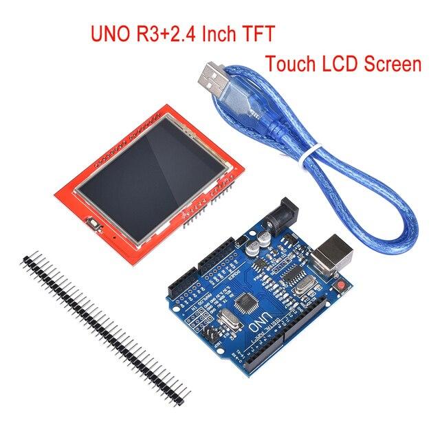 UNO R3 (CH340G) MEGA328P Development Board +LCD module 2.4 Inch TFT LCD Touch Screen Module Display for 3d printer parts