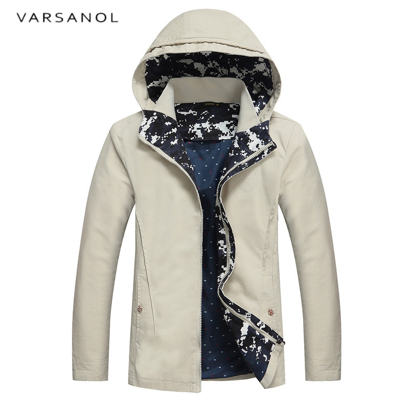 Varsanol Brand Winter Jackets Zipper Jacket Coat Men With Hat Long Sleeve Tops Hooded Warm Winter Thick Outwear New Overcoat Hot
