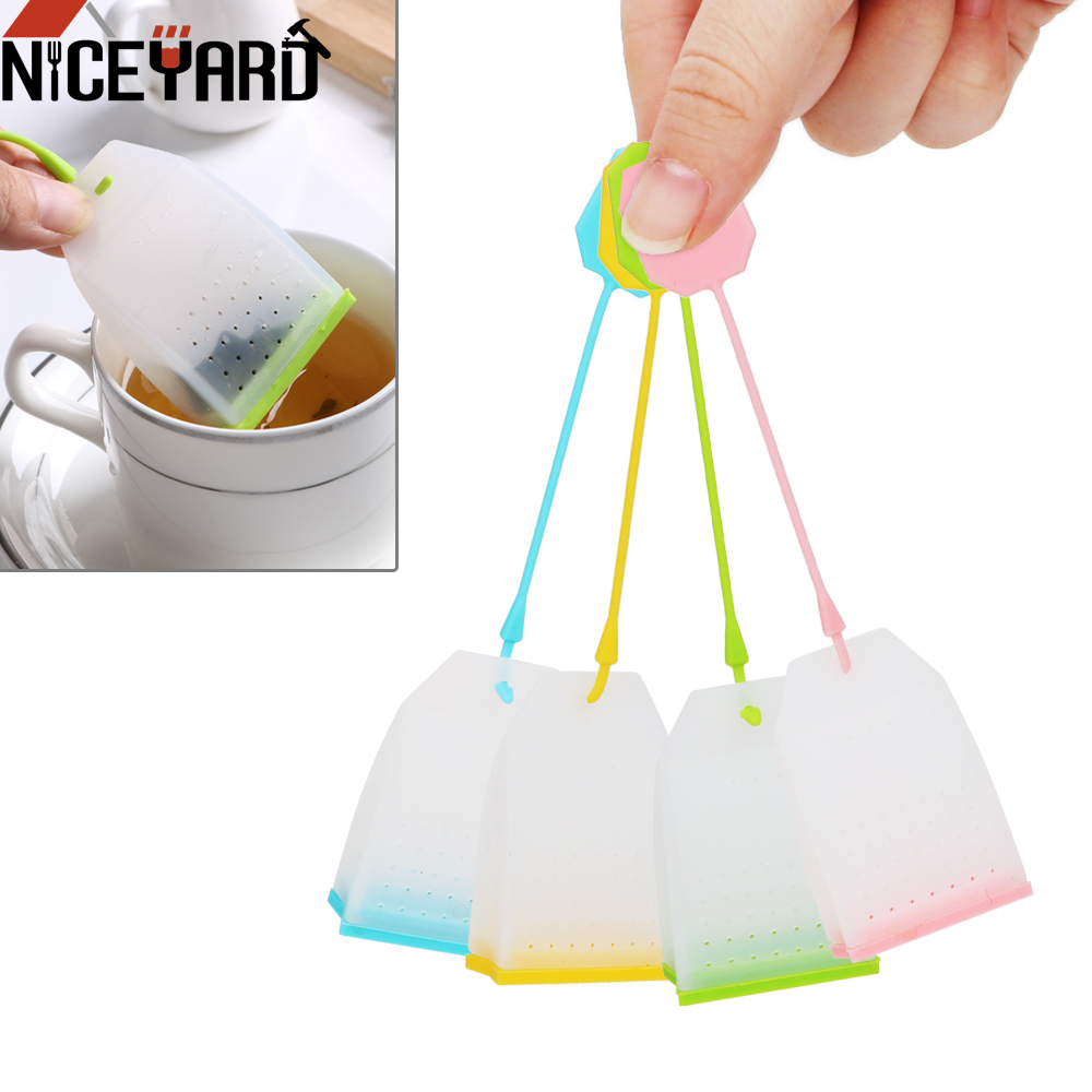 NICEYARD High Temperature Resistance Tea Strainers Herbal Tea Infusers Tea Infuser Food-grade Silicone Tea Bag Random Color