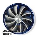 "Original Logo Universal 2.5"" to 2.95"":/ 64mm to 75mm Dual Turbonator Air Intake Fuel Saver Fan"