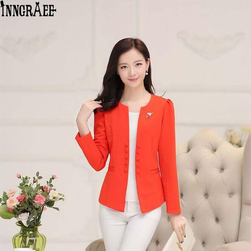 2017 Herbst Langarm Zweireiher Blazer Anzug Frauen Mantel Kurz Blazer Appliques Formale Büro Dame Tops Ns3857