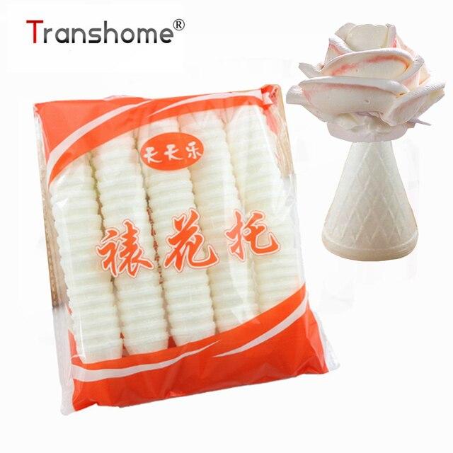 Transhome 100 cái/gói Bếp Bánh Chưng Ăn Được Nướng Dụng Cụ Bánh Hoa Hồng Hoa Đường Ống Món Tráng Miệng Trang Trí Dụng Cụ