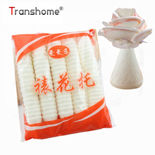Transhome 100 יח\אריזה מטבח אורז דביק עוגת מאכל אפייה לעוגות עלה פרח צנרת מעצבי קינוח כלים
