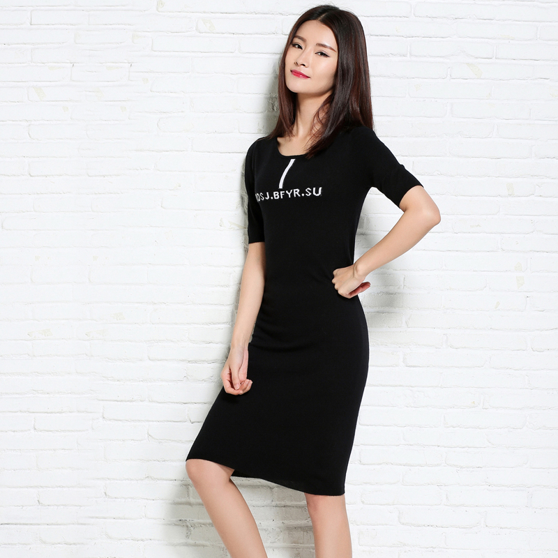 adohon 2018 womens winter Cashmere Dresses and auntmun women knitted Pullovers High Quality Warm Female thickening Knee-Length