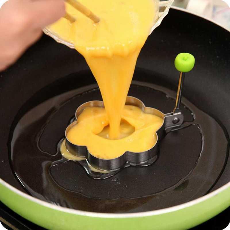Criativo aço inoxidável ovos fritos modelo ovo panqueca pequeno-almoço omelete pan cozinha cozinhar omelete modelo