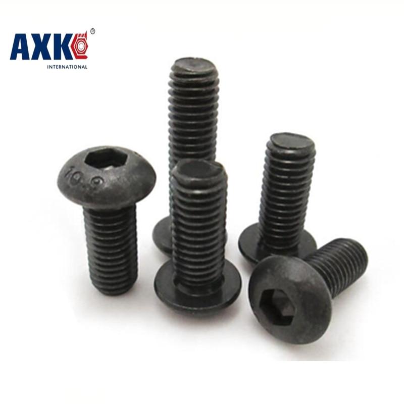 50pcs M3 Alloy Steel Screws Hex Socket Round Head Cap Black Screw Furniture Fastener Bolt * 6mm/8mm/10mm/12mm/16mm/20mm/30mm 100pc din912 m3 x 20 white plastic nylon screw hexagon hex socket head cap screws