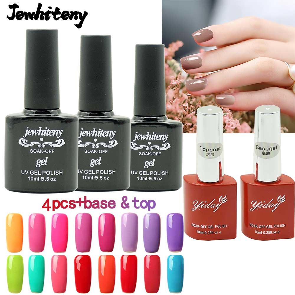 10ml Nail Gel Polish UV Gel Nail Polish vernishes Any 4 Color From Whole Set 120 Color+base gel top coat UV Nail Gel Polish DIY alobon 10ml 120