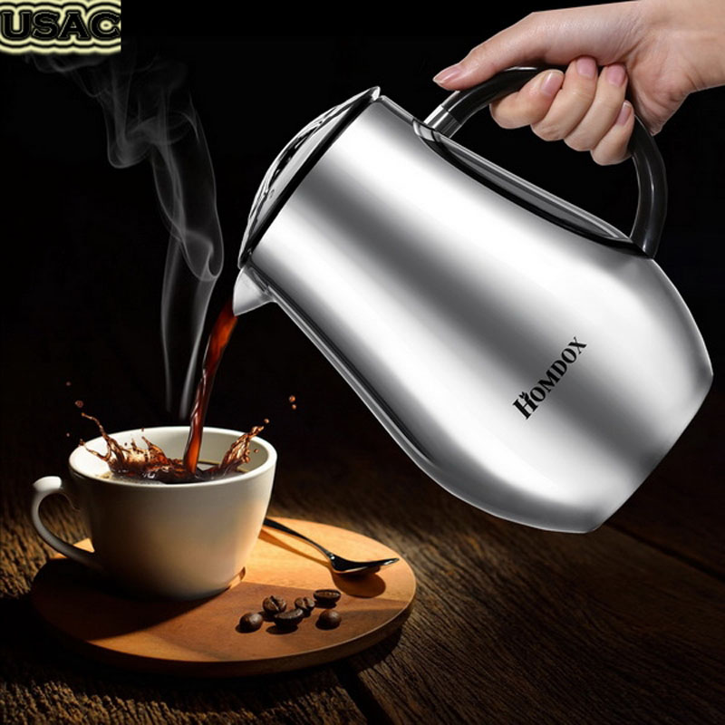 8 Cups 34 Oz Double Layers Stainless Steel Plunger French Press Espresso Percolator Stove Top Coffee