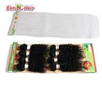 Unverarbeitete brasilianische haar bündelt ein voll kopf Billig 8 teile/los afro verworrene lockige haarverlängerung tiefe lockige haar stück