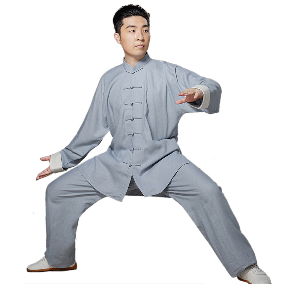 Chinese Traditional Linen Tai Chi Uniform Martial Art Suits Kung Fu ...