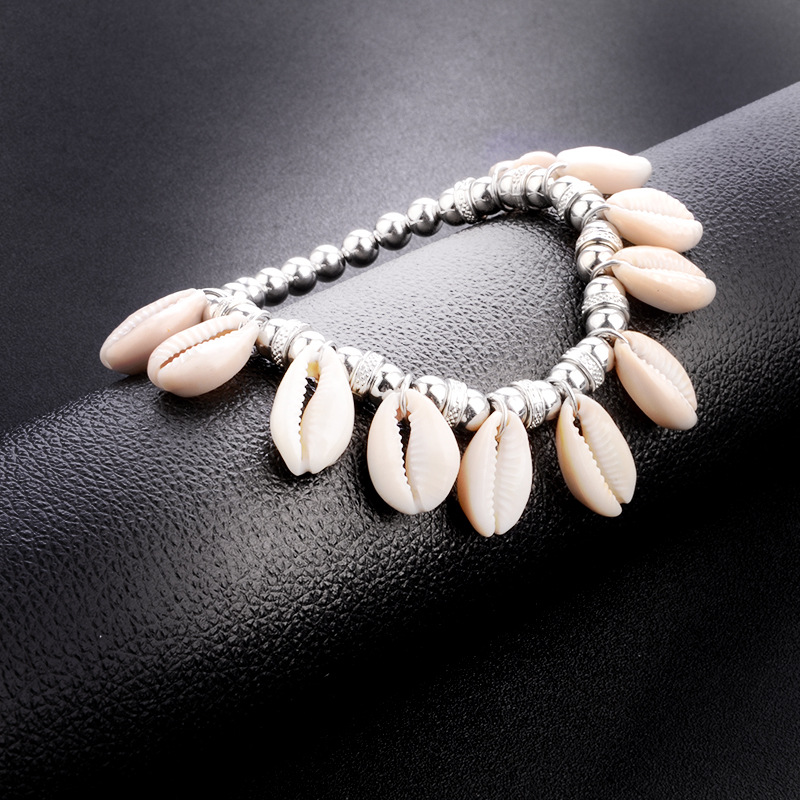 Bohemian Ethnic Hand-woven Beaded Shell Pendants Stretch Bracelets Anklets For Couples Seaside Travel Vacation Fashion Jewelry