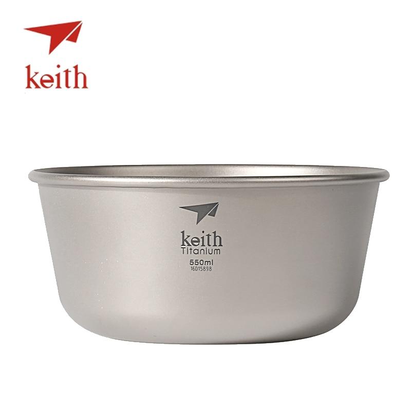 Keith Titane Bol Ultra-Léger Camping Ustensiles de Cuisine Vaisselle Couverts Cuisson de Pique-Nique En Plein Air Voyage Randonnée Ustensiles Bols Seulement 55g