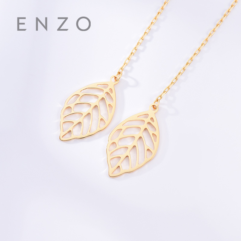 Real 18K Gold Jewelry Leaves Earring Women Miss Girls Gift Party Female Ear Wire Drop Earrings Solid Hot Sale New Good Trendy real 18k gold jewelry heart earring women miss girls gift party female ear wire drop earrings solid hot sale new good trendy