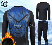 PRAYGER Plus Size Men Winter Warm Long Johns Sleeves O neck Elastic Thermal Underwear Set