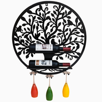 Wall mounted Wine Holder Decoration Wine Rack Shelf Wall Decor Suspension Wrought Iron Wine Glass Rack Home Wine Container