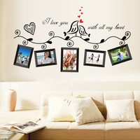Wholesale Creative Bird Photo Wall Stickers Living Room Decoration Wall Decal AY640