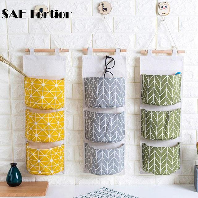 1pc Wall Storage Bag Jewelry Hanging Holder Bathroom Hanging