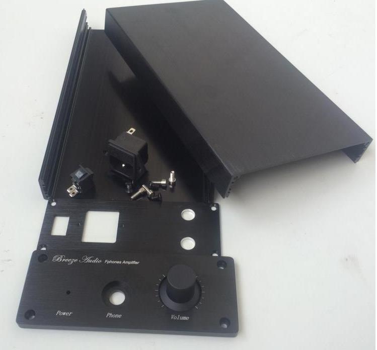 HIFI AUDIO MONDE-1506 Plein Châssis En Aluminium amplificateur Châssis Mini Amp Boîtier Cas Noir/Argent