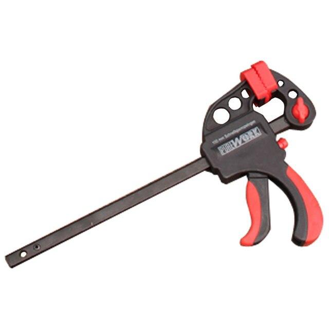 Бесплатная доставка зажим для столярных работ инструменты зажим регулируемая головка F Форма быстрый зажим Squeeze дерево рабочий зажим