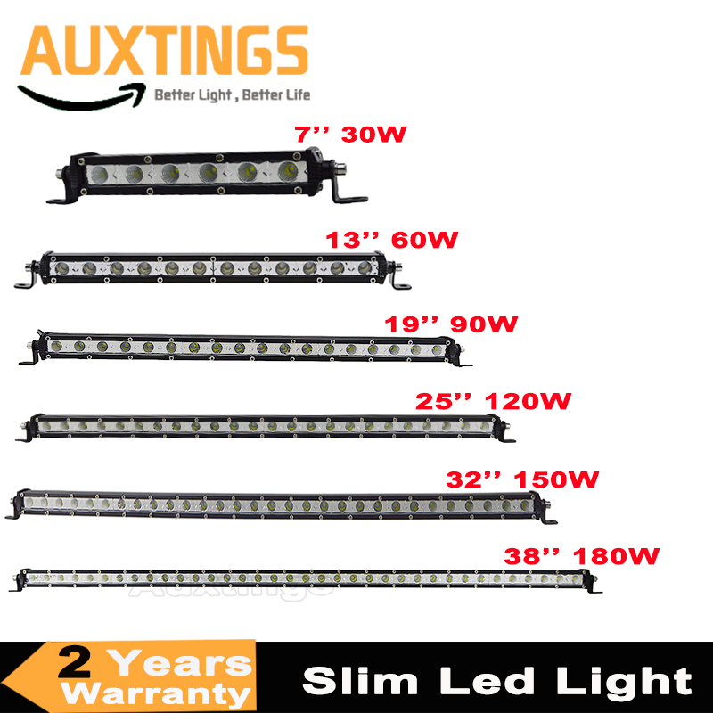 Super Slim LED Light Bar Single Row 7 13 19 25 32 38 30W 60W 90W 120W 180W For SUV 4X4 ATV Off Road LED Work Light BarSuper Slim LED Light Bar Single Row 7 13 19 25 32 38 30W 60W 90W 120W 180W For SUV 4X4 ATV Off Road LED Work Light Bar
