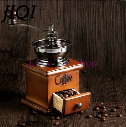 Classical Wooden design Mini Coffee Grinder Manual Stainless Steel Retro Coffee Bean Spice hand Mill Ceramic Porcelain Movement manual coffee bean grinder retro wooden design mill maker grinders retro coffee spice mini burr mill with high quality ceramic m