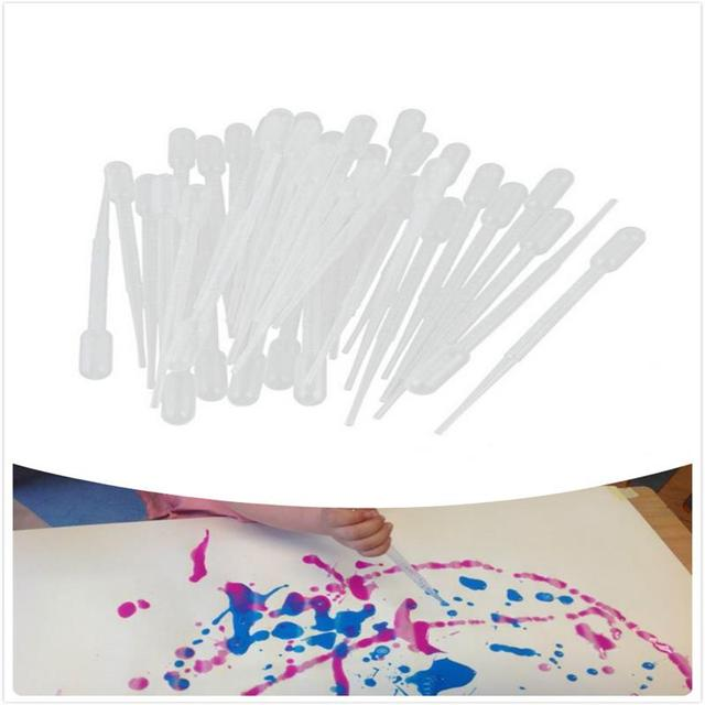 10 17 De Descuento02 Ml Práctico Graduadas Pipetas Cuentagotas Para Niños Juguetes Para Dibujar O Para El Experimento Médicos Suministros