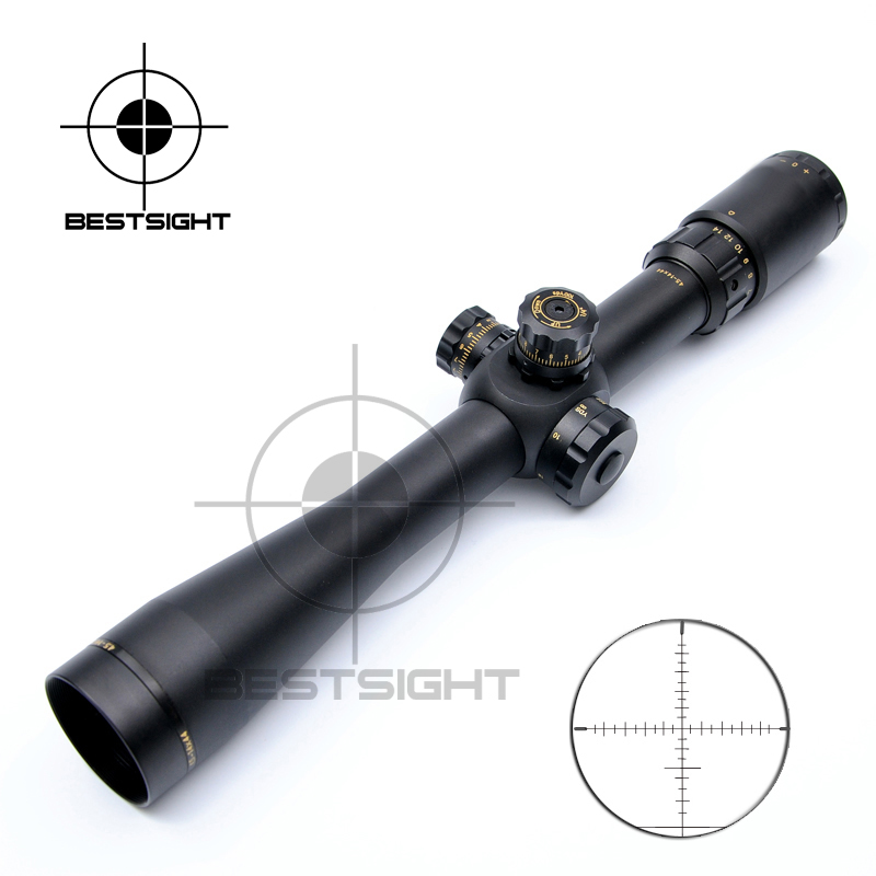 BSA OPTICS 4.5-14x44 Tactical Scope Riflescopes Optical Sight Long Eye Relief Rifle Scope For Gun Airsoft With Free Scope Mounts
