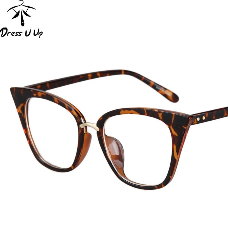 d7dba240d4e0 DRESSUUP Mix Rose Gold Glasses Frame Women Eyeglasses Optical Ladies Clear  Lens Fashion Frames Spectacles Oculos De Grau-in Eyewear Frames from  Apparel ...