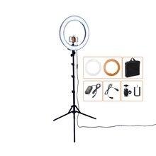 РС-18 55 Вт 5500 К 240 LED Фотографическая Освещение Затемнения Камеры Фото/Студия/Телефон/Видео Фото Кольцо свет Лампы и Штатив Стенд