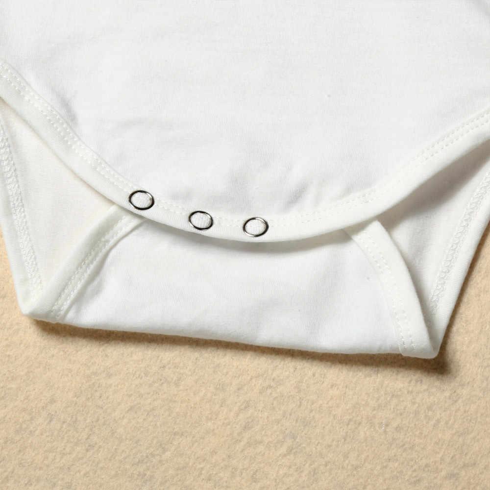 Mameluco infantil de verano letras blancas para bebés y niñas Onesies de algodón de manga corta mono Playsuit ropa de bebé # yl