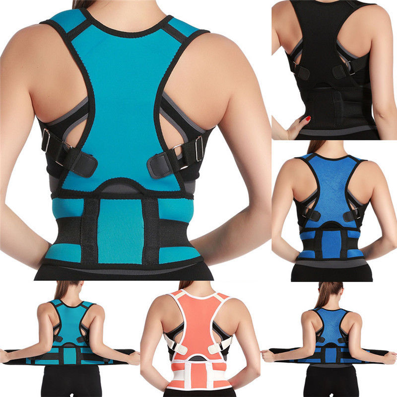 Posture Corrector Support Men Women Magnetic Back Shoulder Brace Belt Adjustable Therapy Posture Back Shoulder Corrector