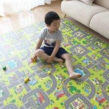 Детские головоломки мат малыша игровой коврик Детская игрушка Разделение городской дороги ковры разработки тренажерный зал игры пены EVA разработки ковры не края