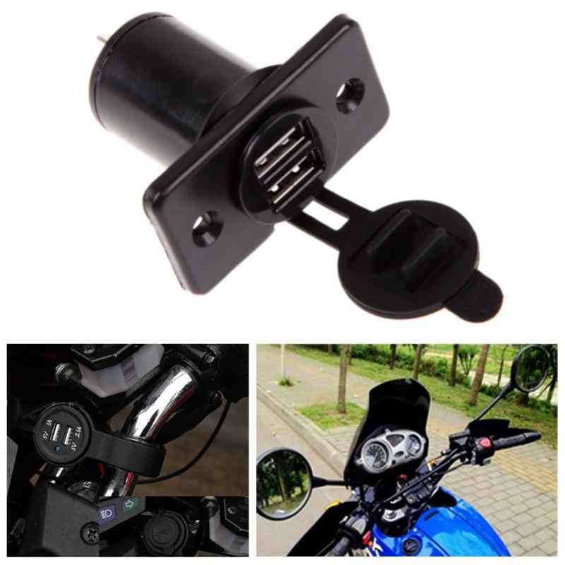 Dual USB Charger Socket Waterproof Outlet 3.1 amp Panel Mount Motorcycle Car Charger Car Cigarette Lighter Socket Splitter New
