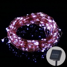 Outdoor LED Solar String lamp Fairy Light Christmas Lights 10M 100LED 5m 50led Copper Wire Xmas Wedding Party Decor Lamp Garland