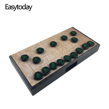 Easytoday Magnetic Chinese Chess Games Set Folding Board Plastic Pieces High Quality Play Entertainment Gift