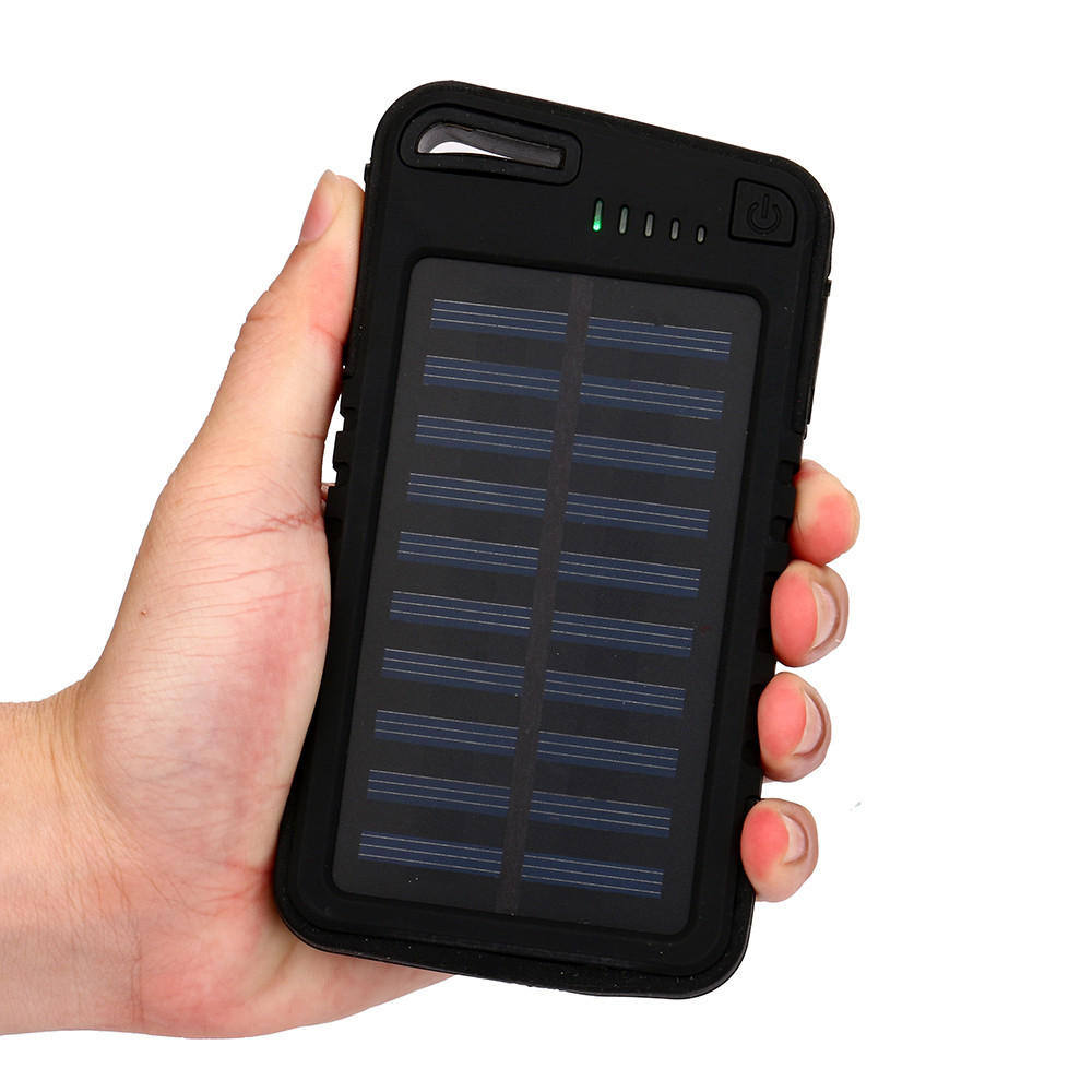 New 20000 mah Dual-USB Waterproof Solar Power Bank Battery Charger For Cell Phone for Iphone 6S and 6S Plus for Samsung xiaomi