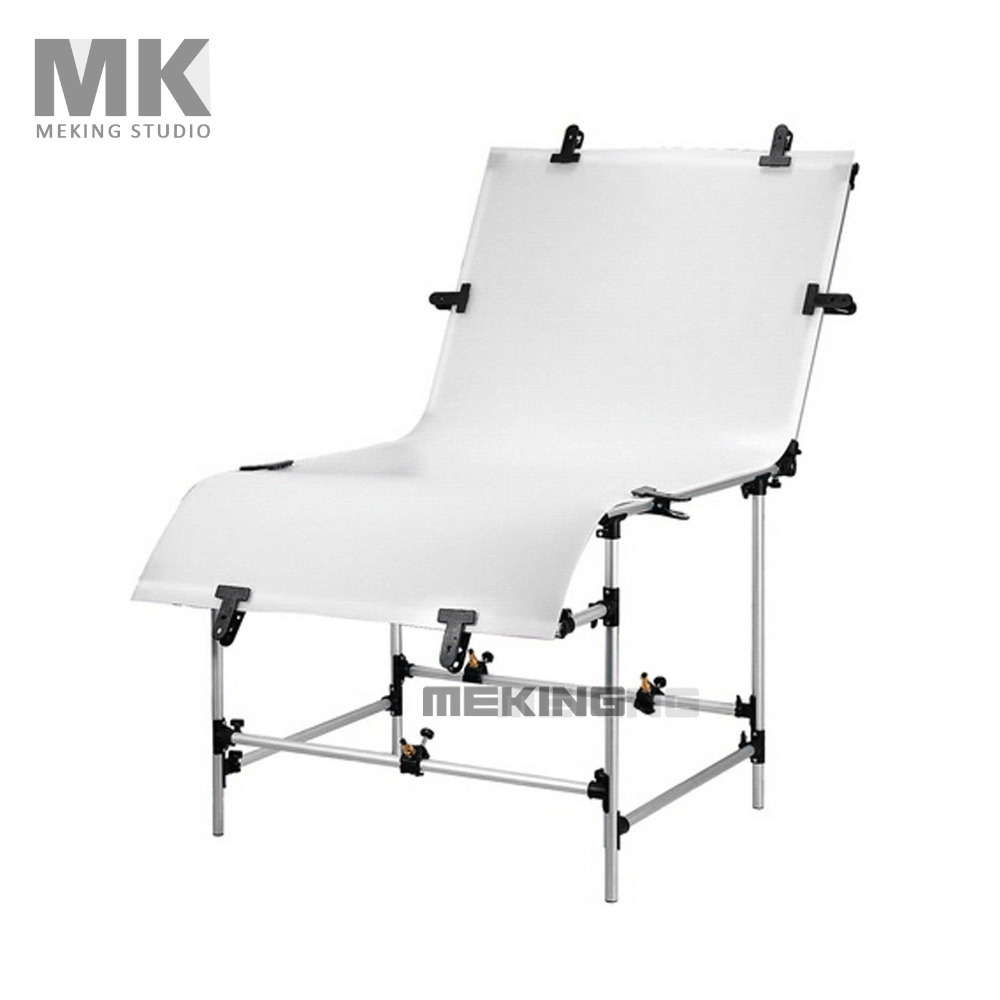Meking Photographic Studio Photo Table Shooting Tables With Plexi Cover 1m 2m Background Shooting Board Photography