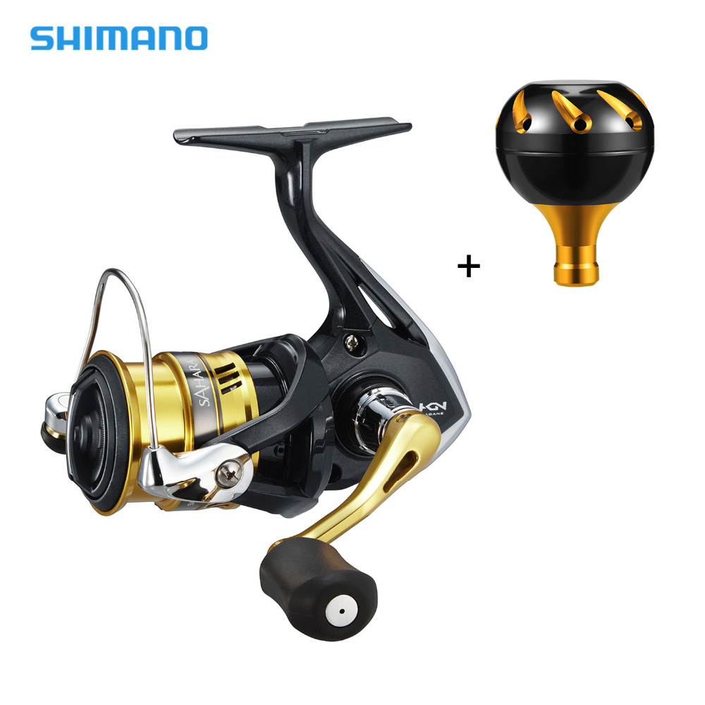 Shimano SAHARA FI Spinning Reel with Extra Handle Knob 1000 2500 C3000 400XG 5.0:1/6.2:1 Gear Ratio 4+1BB Fishing Reel shimano stradic ci4 spinning reel with extra handle knob 1000hg 2500hg c3000hg 4000xg 6 2 1 high gear ratio 6 1bb fishing reel